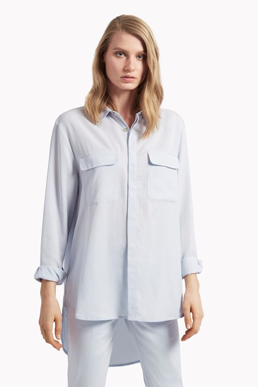timed out tencel shirt