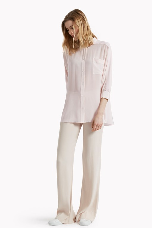 sophie silk batwing sleeve oversized shirt
