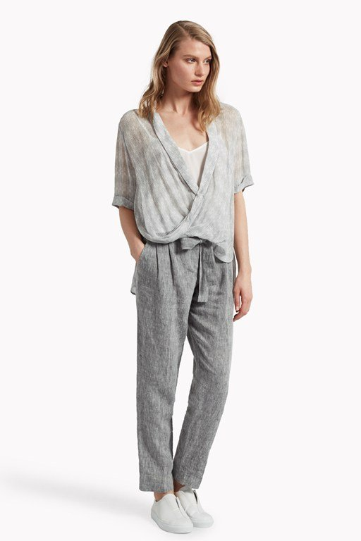 isla viscose draped top