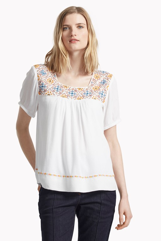 morocco stitch embellished top