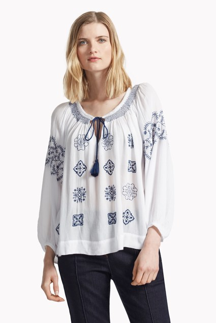 Benicassim Broderie Smock Top
