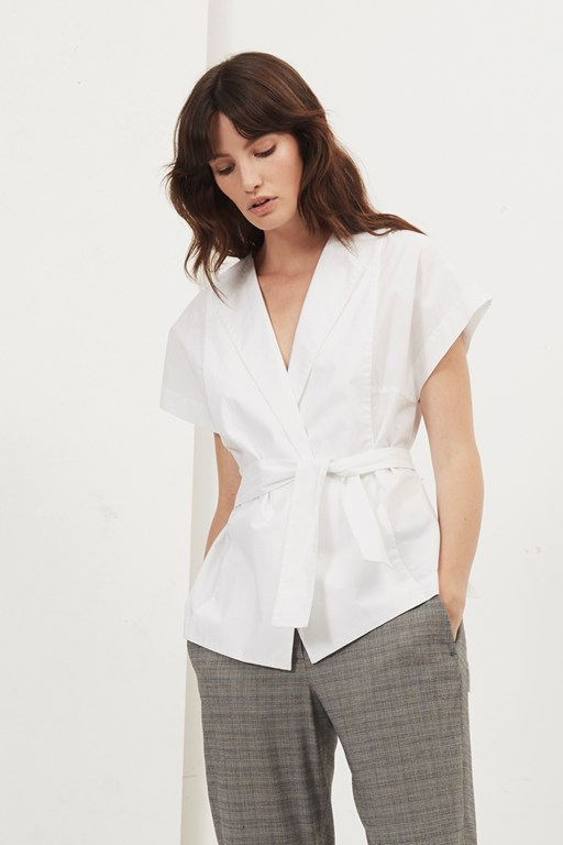 penny wrap over blouse