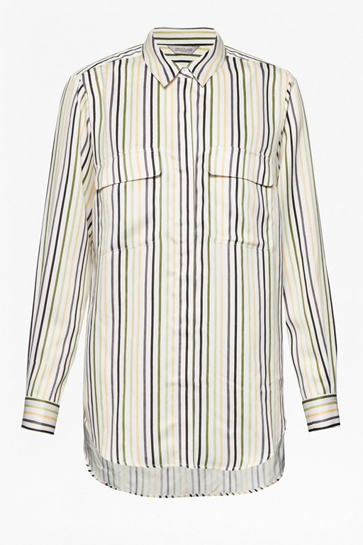 rainbow stripe pocket shirt