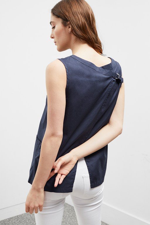 simone sleeveless shirt