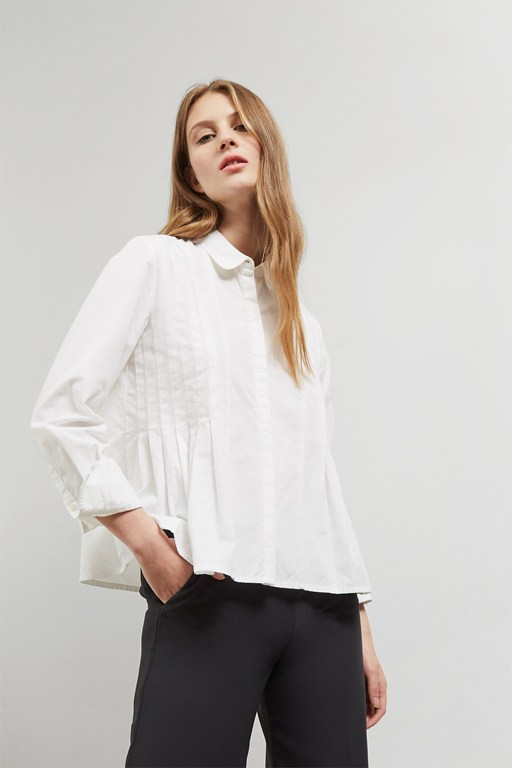Complete the Look Simone Pleated Shirt