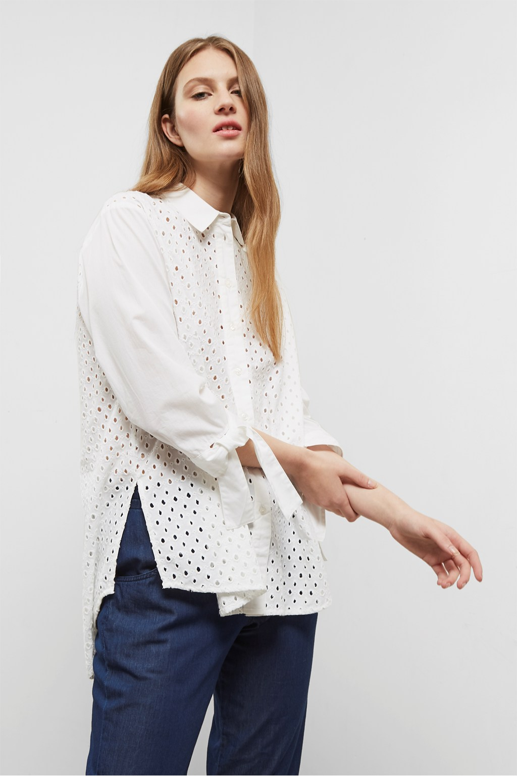 Buy Embroidered Shirt For Women - Women's White Shirts Online in India