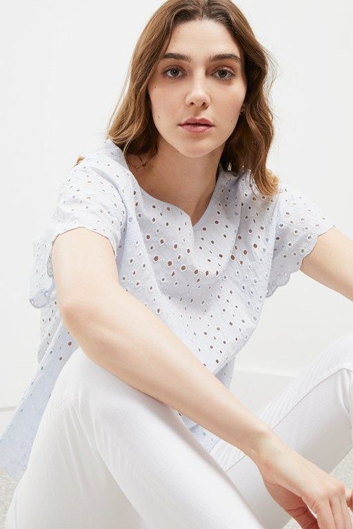 summer broderie anglaise top