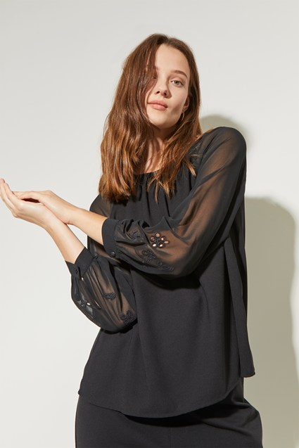 Winter Broderie Blouse