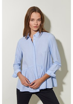 Chambray Peplum Shirt