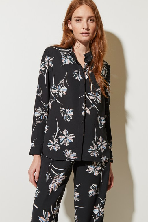 camilla bloom round neck top