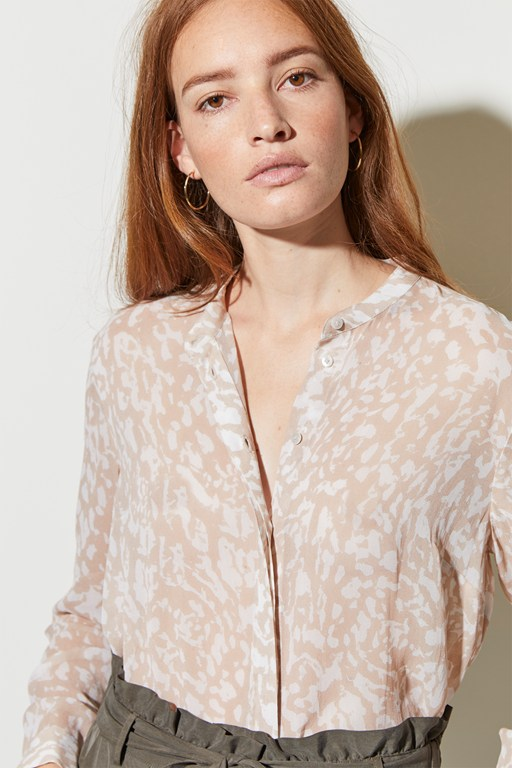 feathered leopard shirt