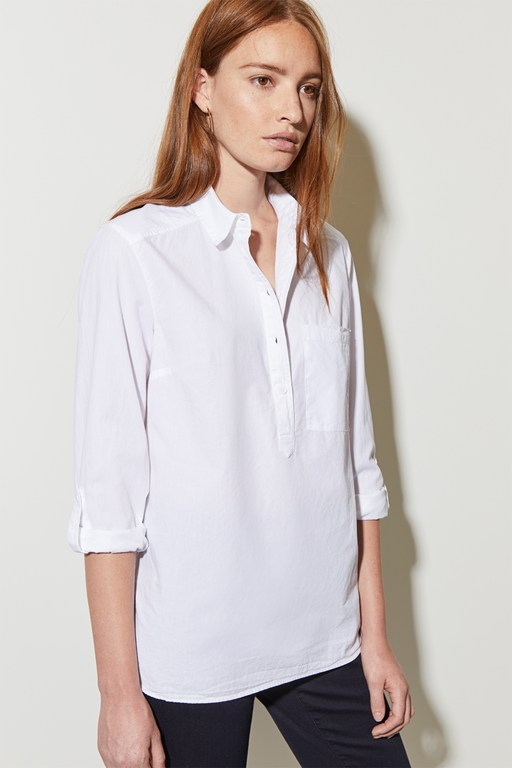 cotton poplin pocket shirt