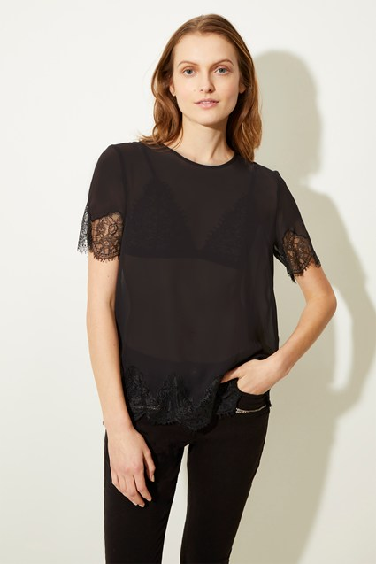 Nina Lace Mix Top
