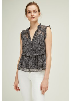 Mini leopard Frill Top