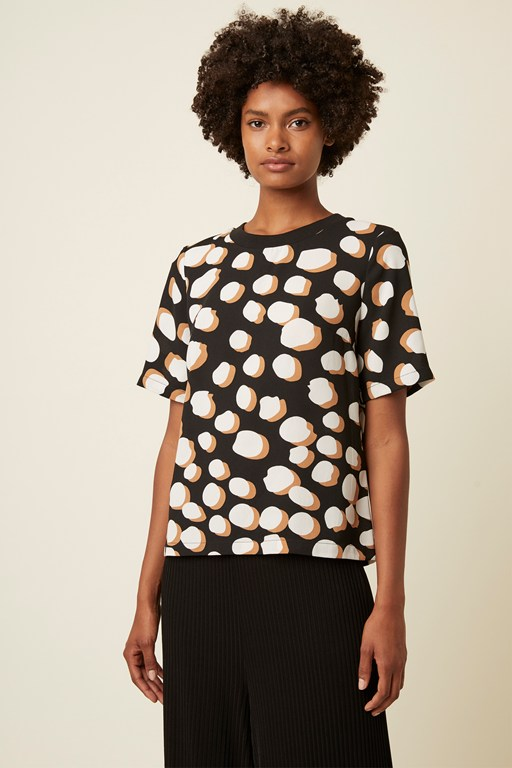margot spot round neck top