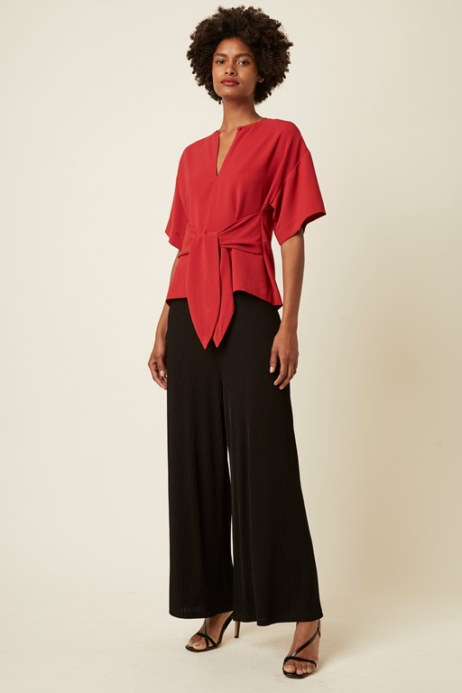 nouvelle bow wide sleeve top