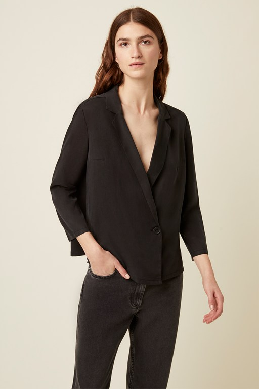 everyday luxe wrap shirt