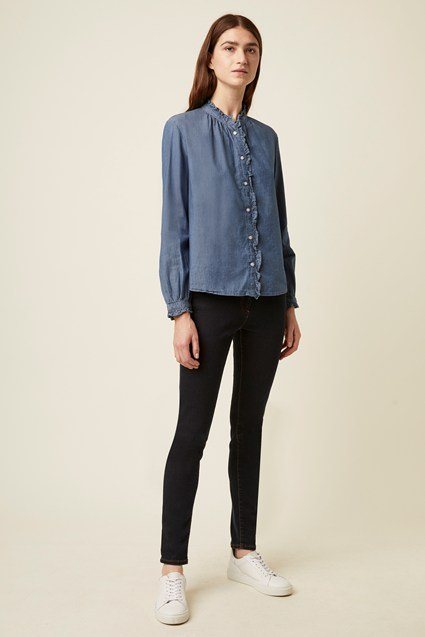 Tilly Cotton Ruffle Shirt