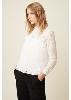Monmarte Embroidered Frill Neck Top