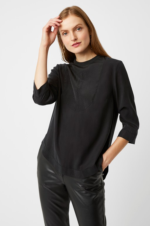 arundel luxe high neck top