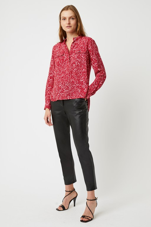 javan print long sleeve top