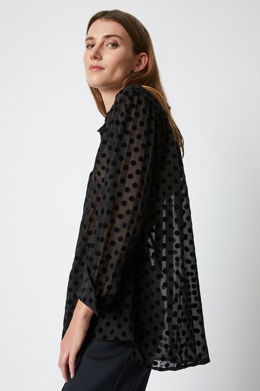 solar spot long sleeve blouse