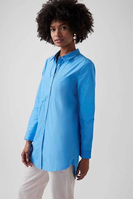 Crisp Cotton Oversized Shirt