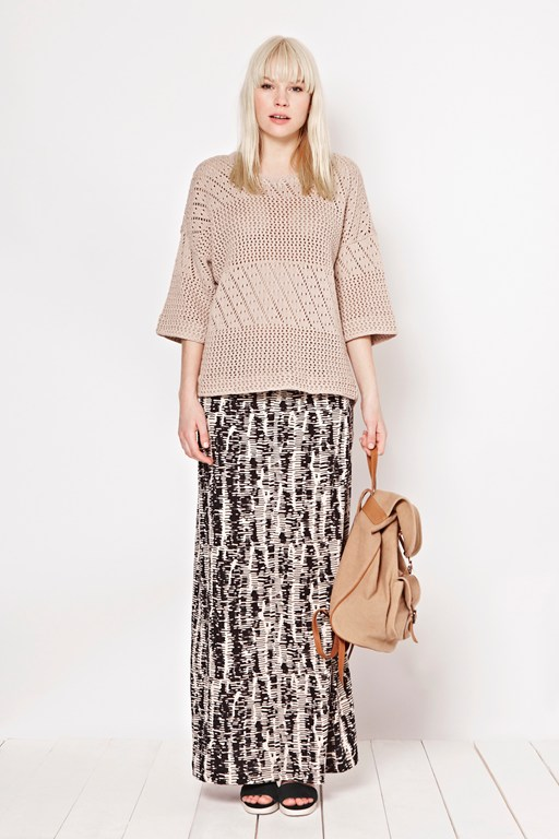 spindle jersey maxi skirt