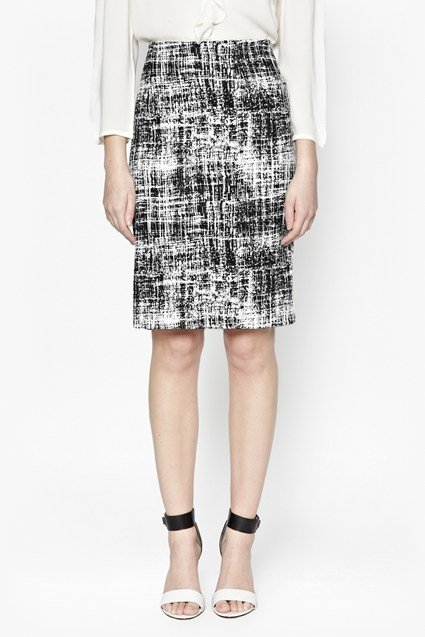 Crosshatch Pencil Skirt