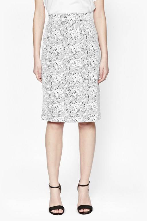 Complete the Look Trellis Jacquard Pencil Skirt