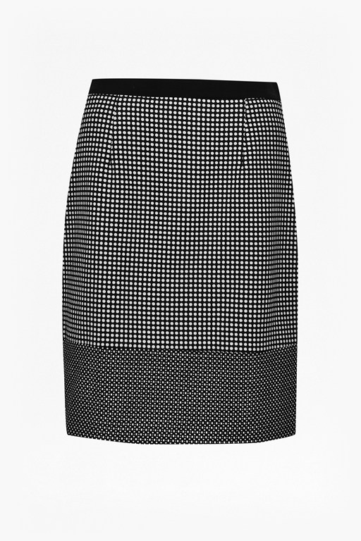 polka polka pencil skirt