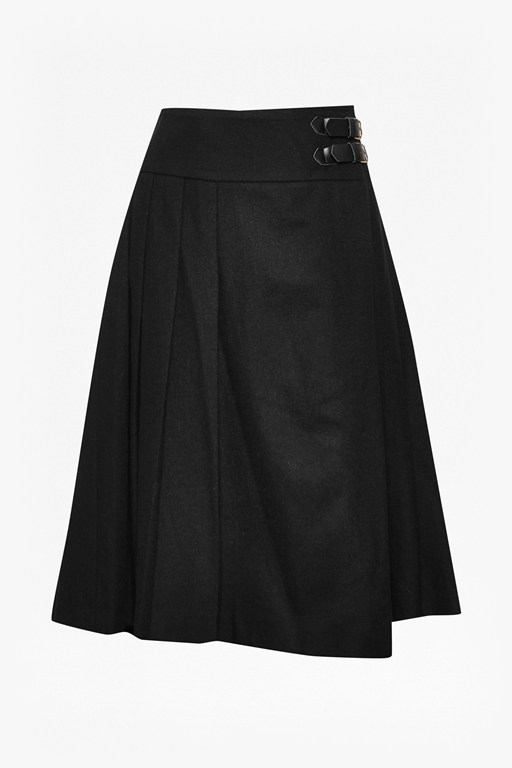 Complete the Look Elly Buckled Wool Skirt