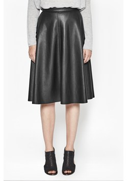 Detroit Faux Leather Skater Skirt