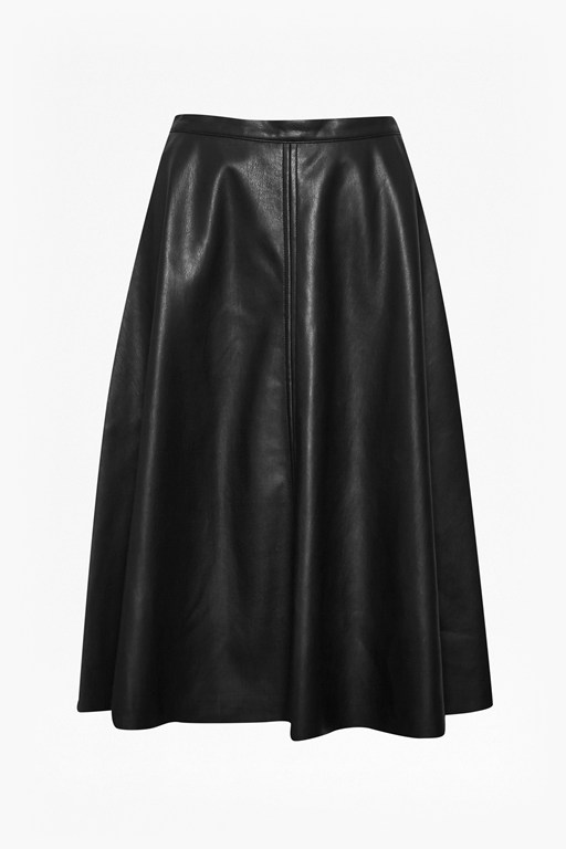 Complete the Look Detroit Faux Leather Skater Skirt