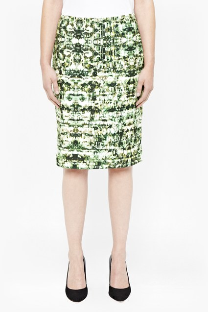 Emerald Kaleidoscope Pencil Skirt