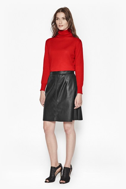 Detroit Faux Leather Skirt