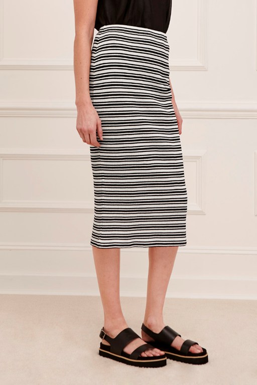 alexandra striped pencil skirt