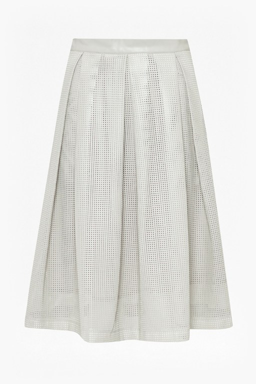 Complete the Look Square Route Perforated Skirt