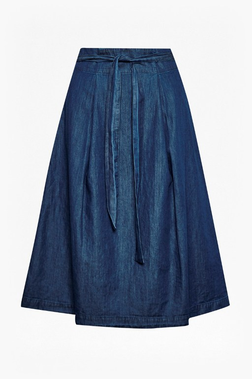 Complete the Look Lightweight Denim High Waisted Skirt