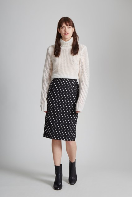 Ikat Spot Stretch Pencil Skirt