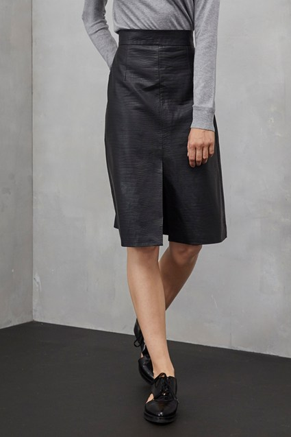 Black Mamba Textured Skirt