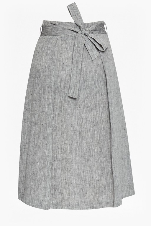 Complete the Look Layla Linen Waist Tie Skirt