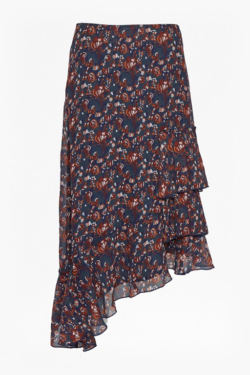 Complete the Look Highland Floral Ruffle Skirt