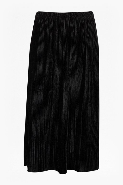 Complete the Look Pleated Plisse Velvet Skirt