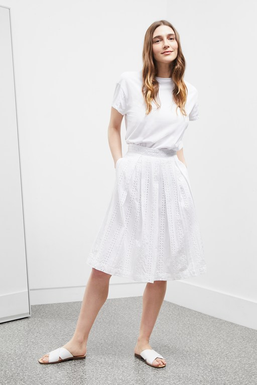 Complete the Look Betsy Broidery Flared Skirt