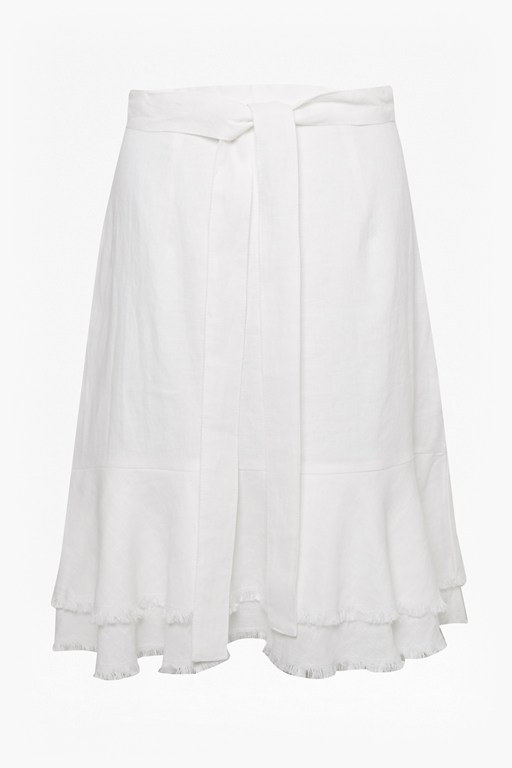 Complete the Look Cotton Linen Frill Skirt