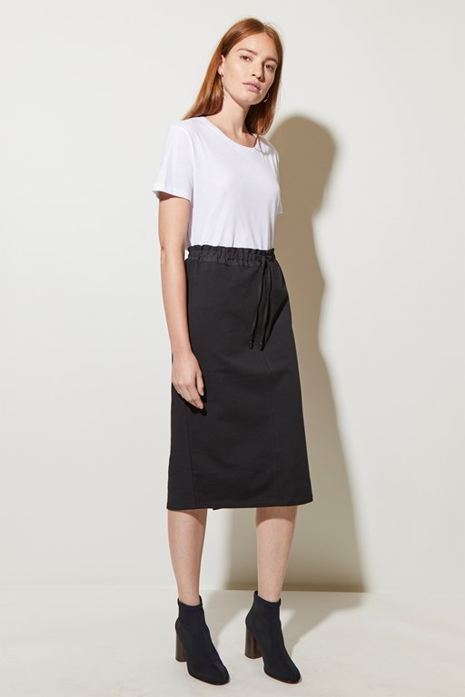 lightweight sweat midi skirt