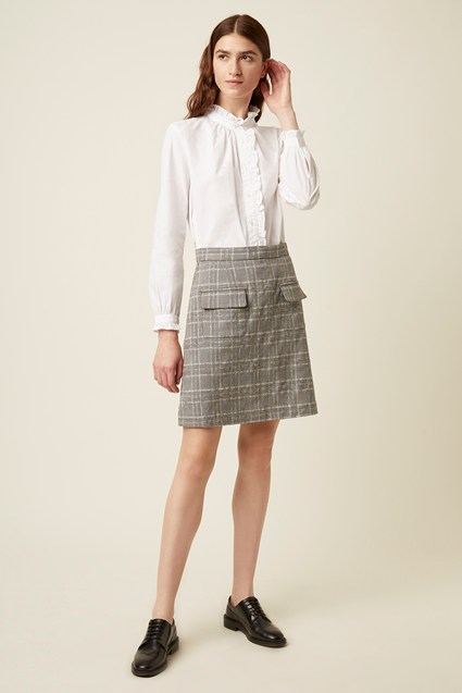Paradis Check Pocket Skirt