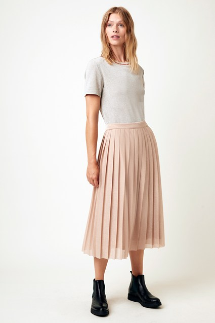 Pia Pleats Midi Skirt
