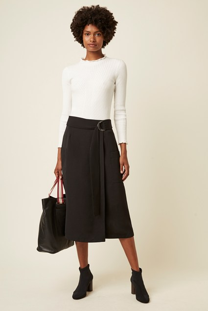 Easy Drape D Ring Wrap Skirt